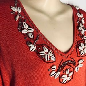 💥Shell decorated top